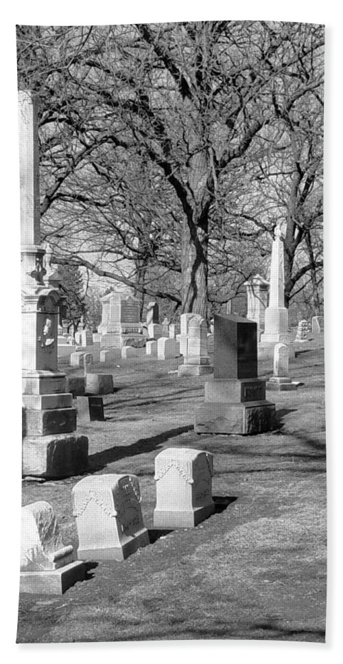 Cemetery Bath Towel featuring the photograph Cemetery 3 by Anita Burgermeister