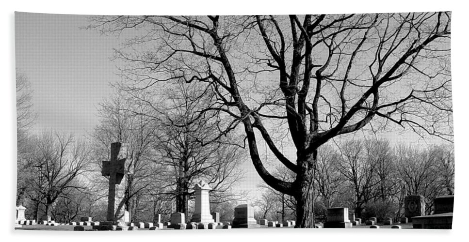 Cemetery Hand Towel featuring the photograph Cemetery 5 by Anita Burgermeister
