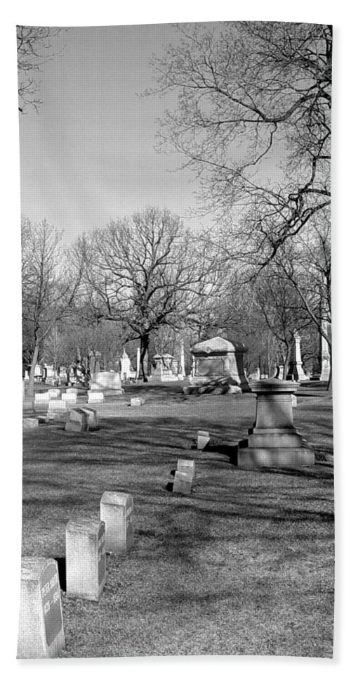 Cemetery Hand Towel featuring the photograph Cemetery 7 by Anita Burgermeister