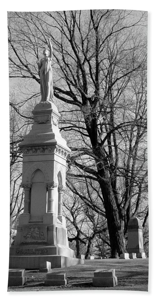 Cemetery Hand Towel featuring the photograph Cemetery 9 by Anita Burgermeister