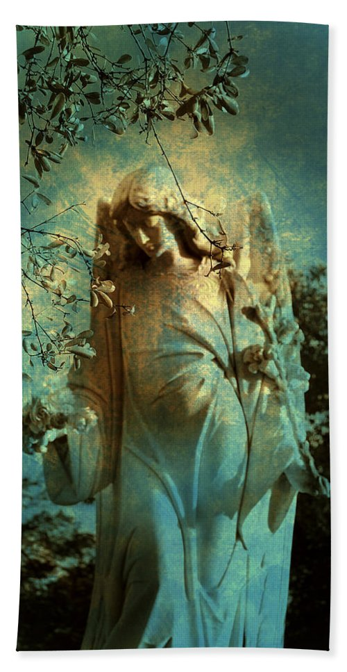 Cemetery Hand Towel featuring the photograph Cemetery Angel by Susanne Van Hulst