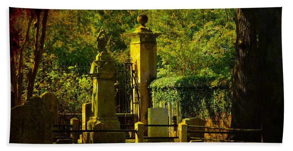 Charleston Hand Towel featuring the photograph Cemetery In Charleston by Susanne Van Hulst