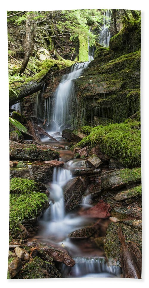 north Idaho Bath Sheet featuring the photograph Centennial Falls by Paul DeRocker