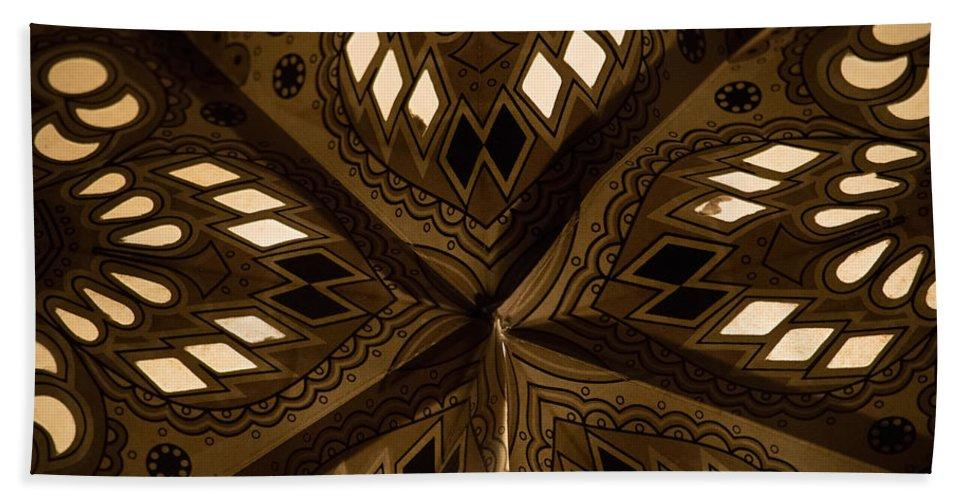 Closeup Bath Sheet featuring the photograph Center Of Star by Michael Goodin