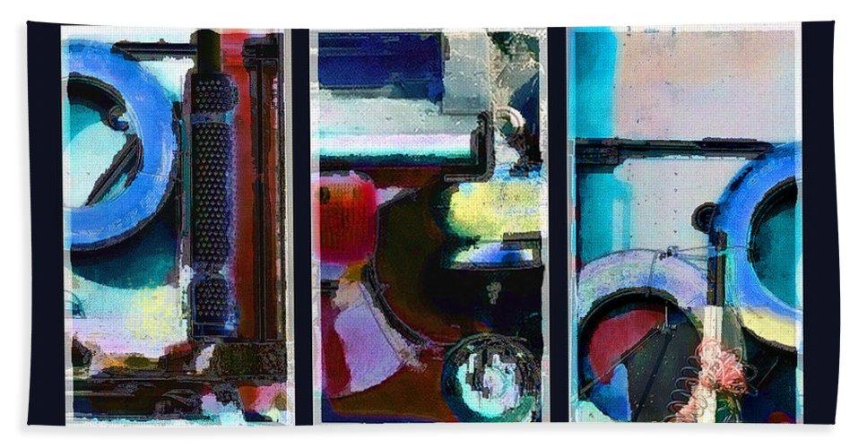 Abstract Bath Sheet featuring the digital art Centrifuge by Steve Karol