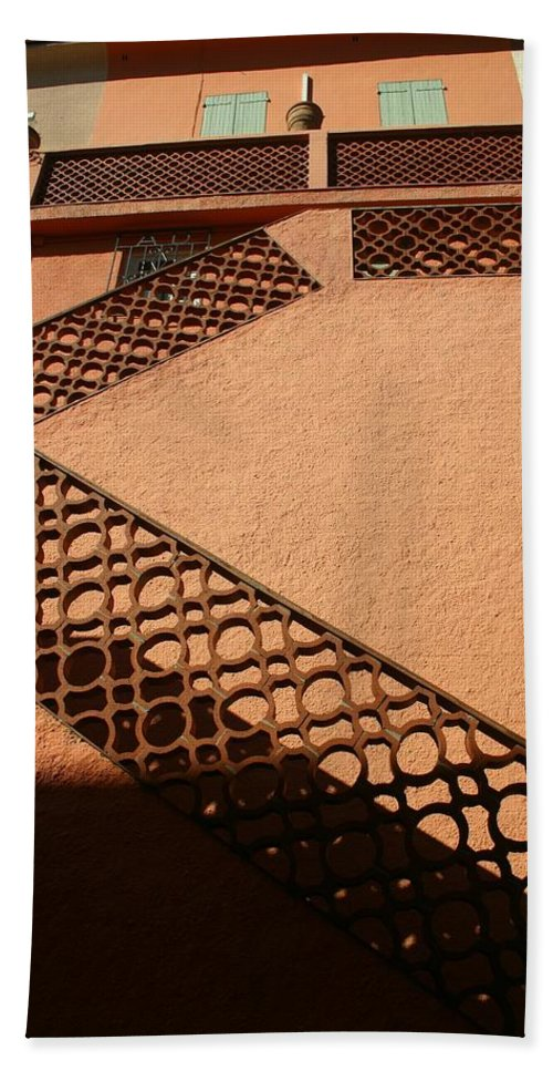 Stairs Bath Sheet featuring the photograph Cerbre France Stairs by Minaz Jantz