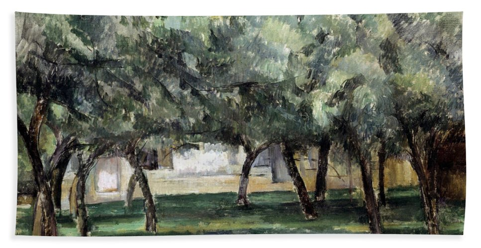 19th Century Hand Towel featuring the photograph Cezanne: Le Clos Normand by Granger