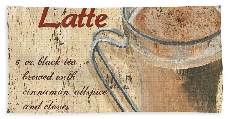 Coffee Bath Sheet featuring the painting Chai Latte by Debbie DeWitt