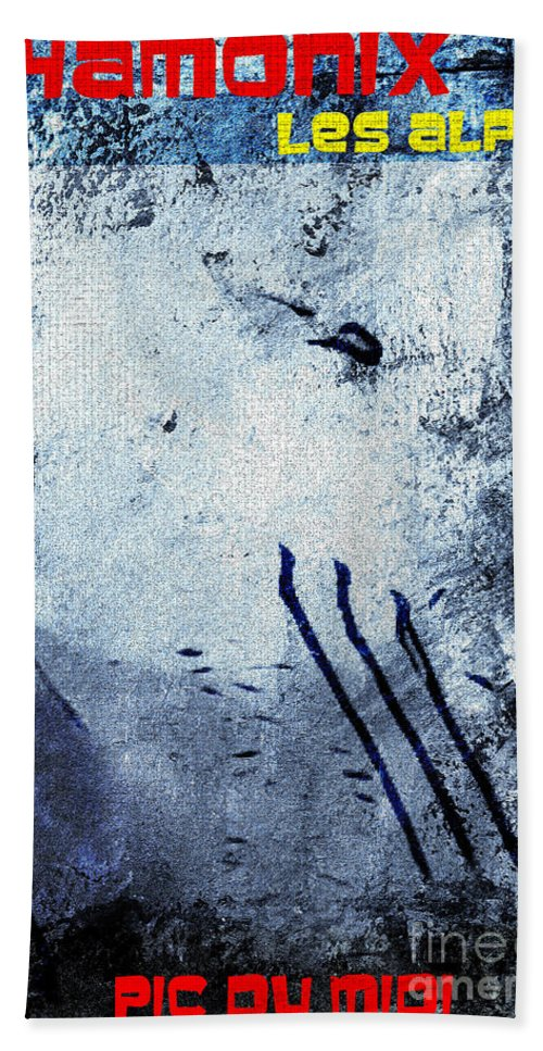 Chamonix Poster Art Hand Towel featuring the digital art Chamonix Les Alpes by Callan Art