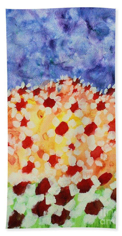 Daisies Bath Sheet featuring the painting Champs De Marguerites - 01 by Variance Collections