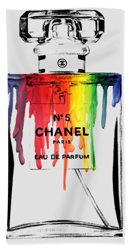 Bottle Bath Towel featuring the painting Chanel by Mark Ashkenazi