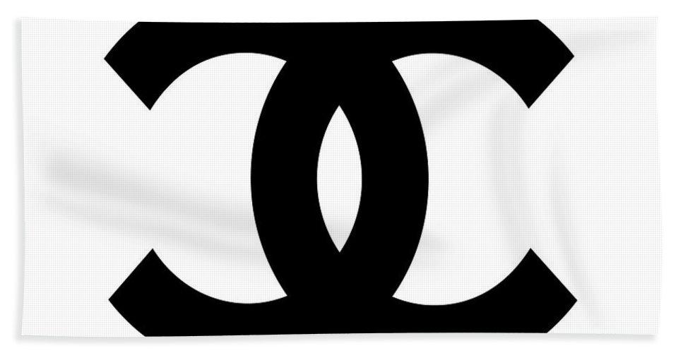 cbf627fb9bc Chanel Hand Towel featuring the digital art Chanel Symbol by Edit Voros
