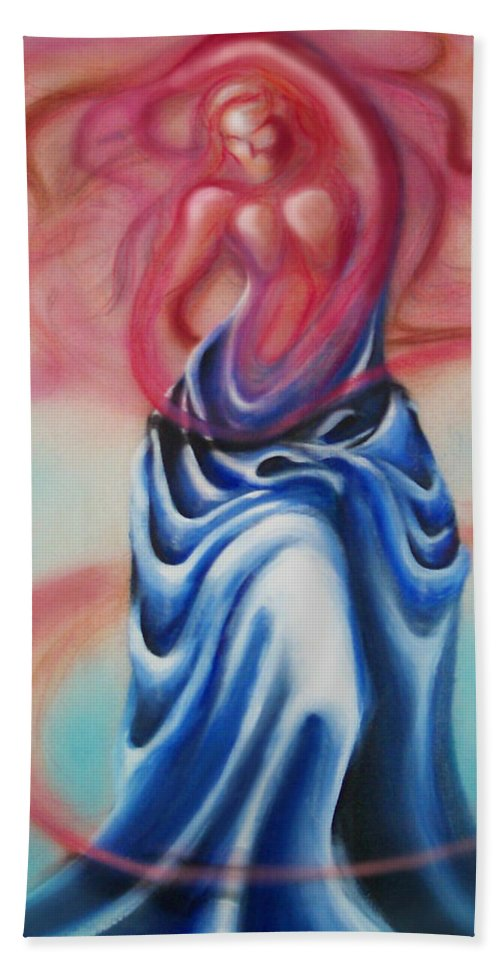 Female Bath Towel featuring the painting Change by Kevin Middleton