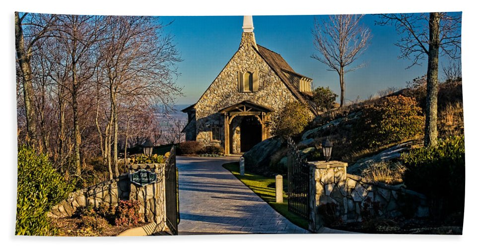 Chapel Bath Sheet featuring the photograph Chapel At Glassy by Christopher Holmes