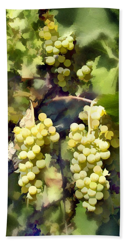Chardonnay Hand Towel featuring the photograph Chardonnay by Kurt Van Wagner