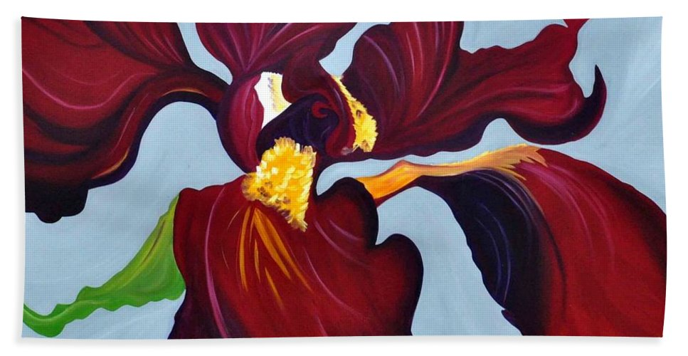 Flower Bath Sheet featuring the painting Charisma by Sonali Kukreja