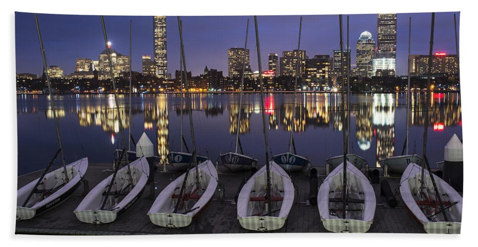 Boston Bath Sheet featuring the photograph Charles River Boats Clear Water Reflection by Toby McGuire