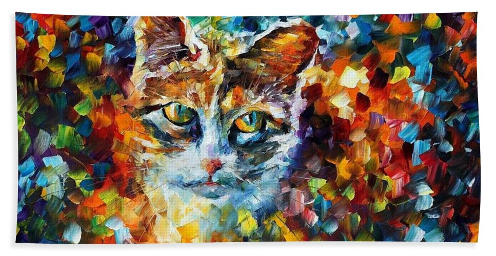 Afremov Hand Towel featuring the painting Charming by Leonid Afremov