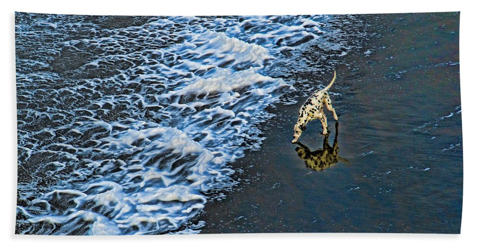 Beach Hand Towel featuring the photograph Chasing Waves by Casper Cammeraat