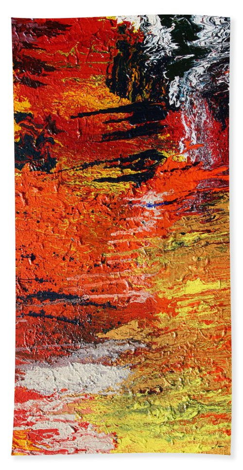 Fusionart Hand Towel featuring the painting Chasm by Ralph White