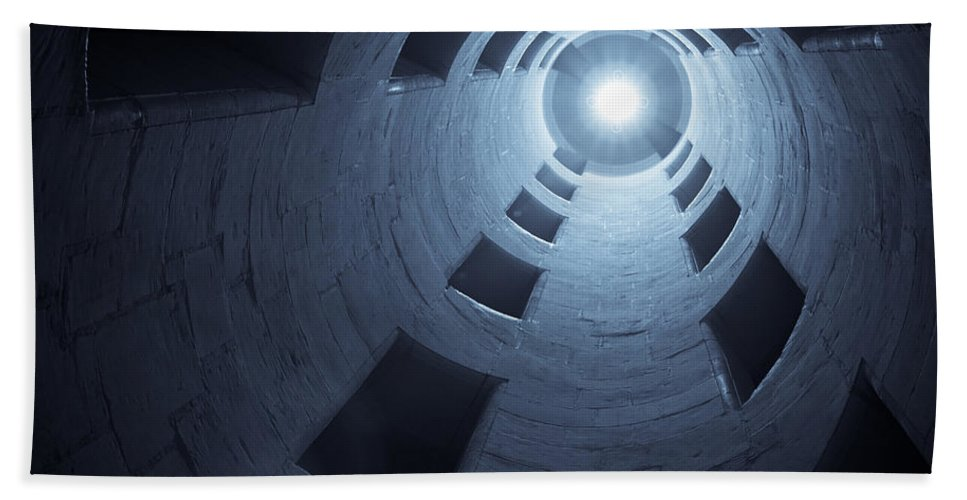 Staircase Hand Towel featuring the photograph Chateau De Chambord Double Staircase by Sebastian Musial