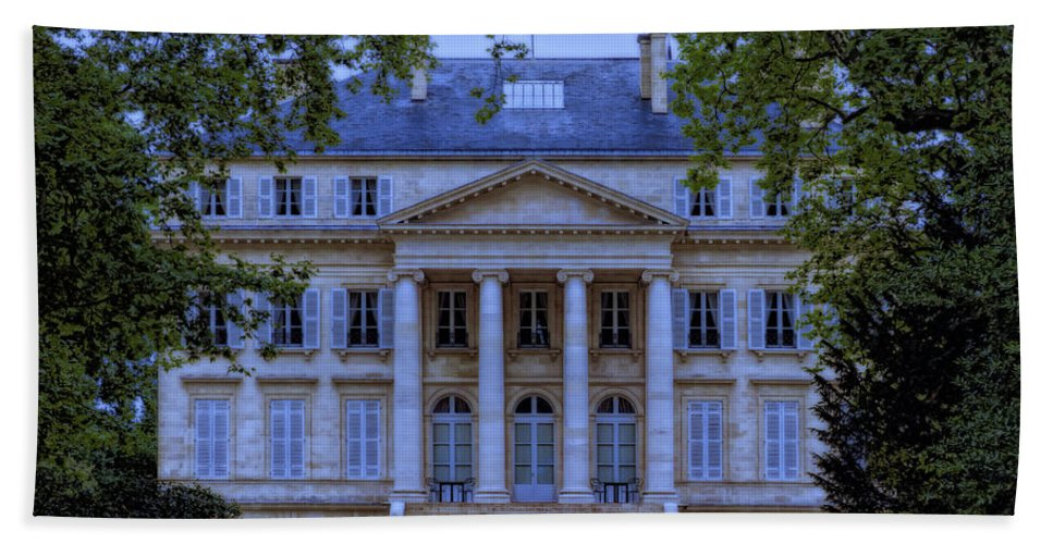 France Hand Towel featuring the photograph Chateau Margaux by Claude LeTien