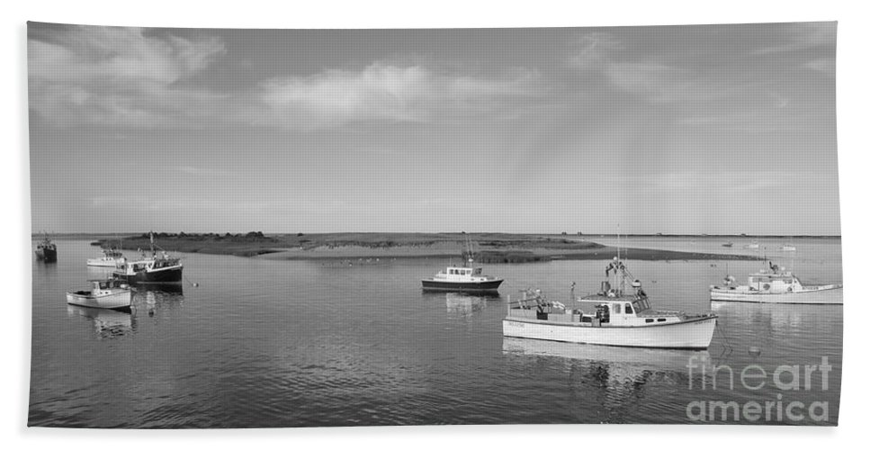 Nature Bath Sheet featuring the photograph Chatham Harbor by Cathy Fitzgerald