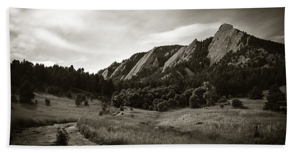 Camp Hand Towel featuring the photograph Chautauqua Night Path 2 by Marilyn Hunt