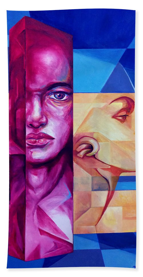 Original Fine Art By Lloyd Deberry Hand Towel featuring the painting Check Mate by Lloyd DeBerry