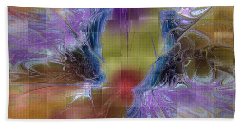 Digital Bath Sheet featuring the digital art Checker Square Design by Deborah Benoit