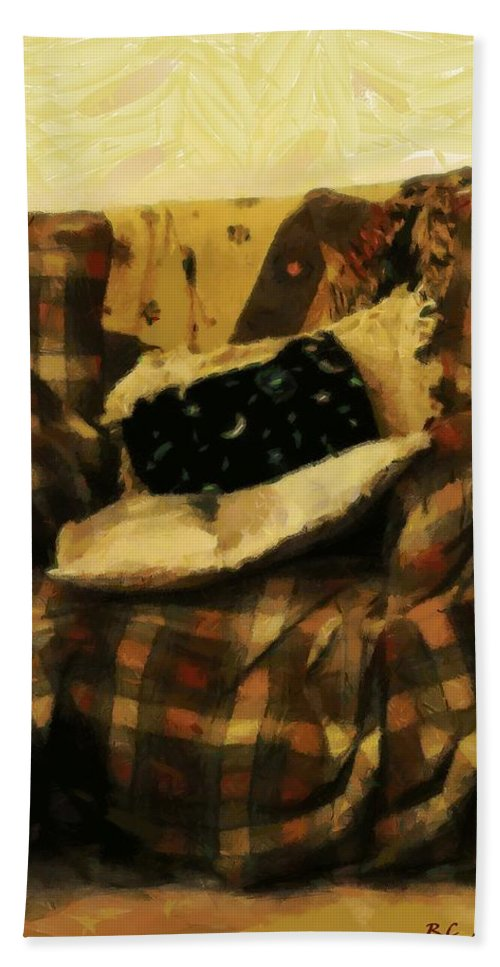 Armchair Hand Towel featuring the painting Checks And Balances by RC DeWinter