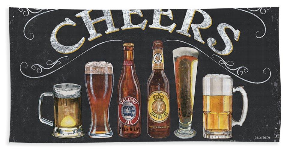 Cheers Bath Towel featuring the painting Cheers by Debbie DeWitt
