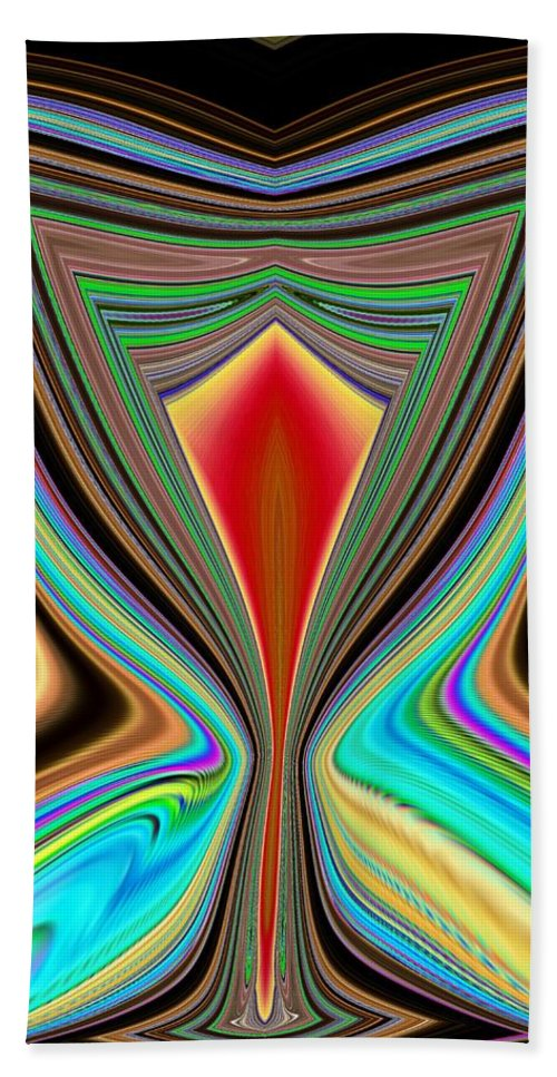 Abstract Bath Sheet featuring the digital art Cheers by Tim Allen