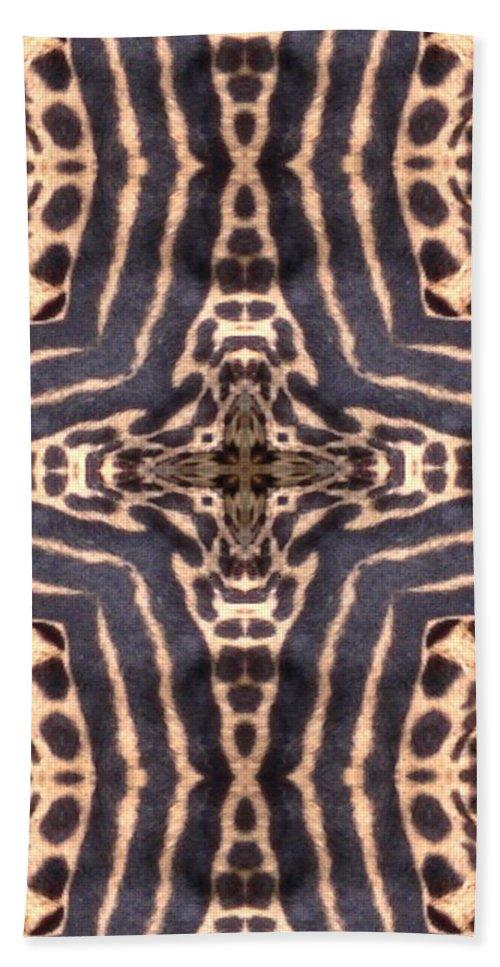 Digital Hand Towel featuring the digital art Cheetah Cross by Maria Watt