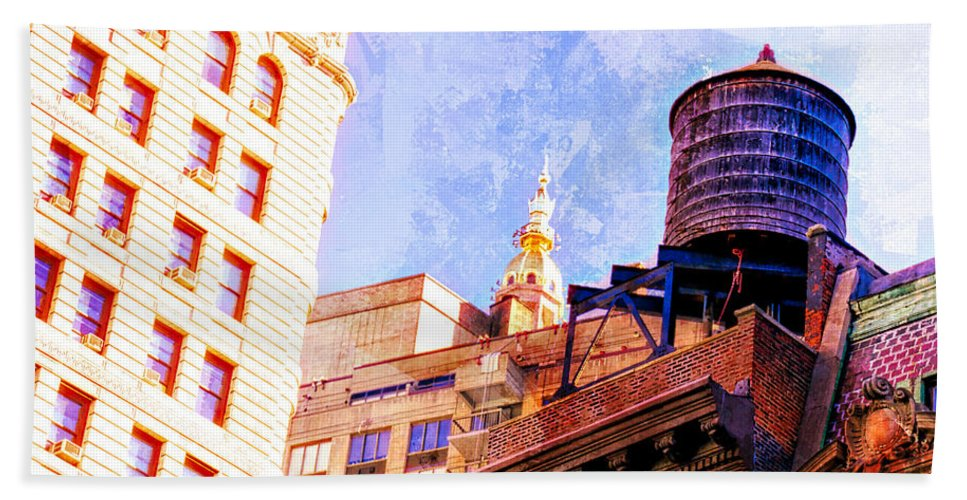 Alicegipsonphotographs Bath Sheet featuring the photograph Chelsea Water Tower by Alice Gipson