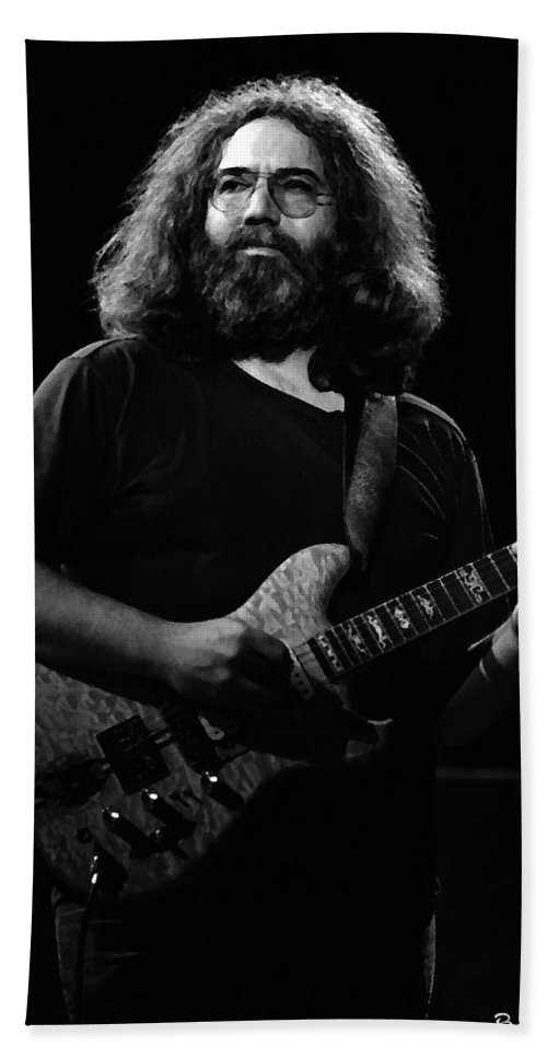 Jerry Garcia Bath Sheet featuring the photograph Cheney Art #4 In Bw by Ben Upham