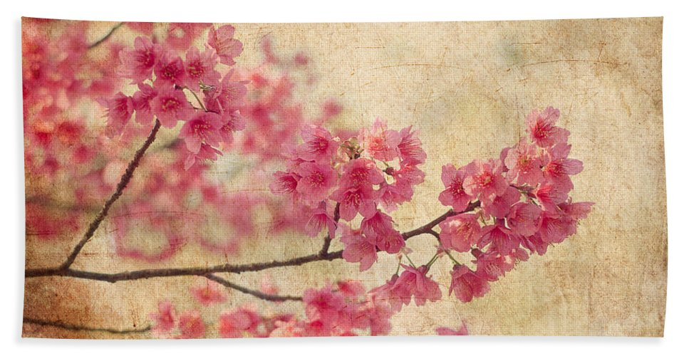 Flower Bath Towel featuring the photograph Cherry Blossoms by Rich Leighton