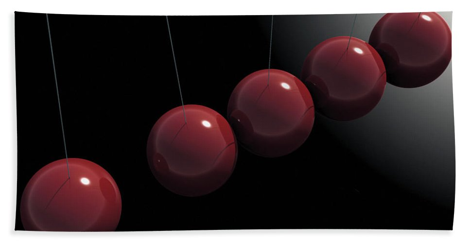 Minimalism Bath Sheet featuring the digital art Cherry Red Knockers by Richard Rizzo