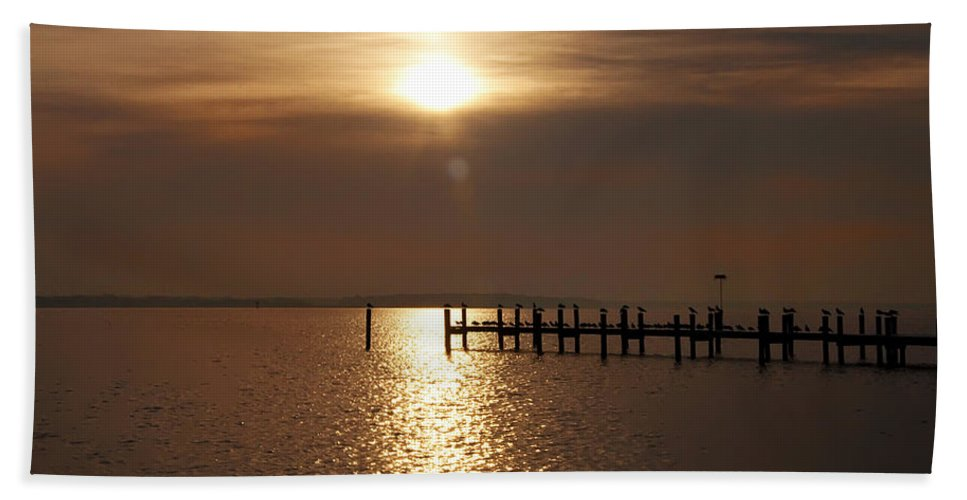Chesapeake Hand Towel featuring the photograph Chesapeake Morning by Bill Cannon