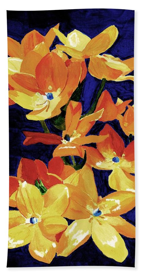 sun Star Bath Towel featuring the painting Chesapeake Sunset by Rodney Campbell