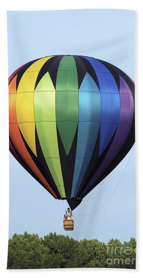 Hot Air Balloon Bath Sheet featuring the photograph Chester County Balloon Fest 31 by Terri Winkler