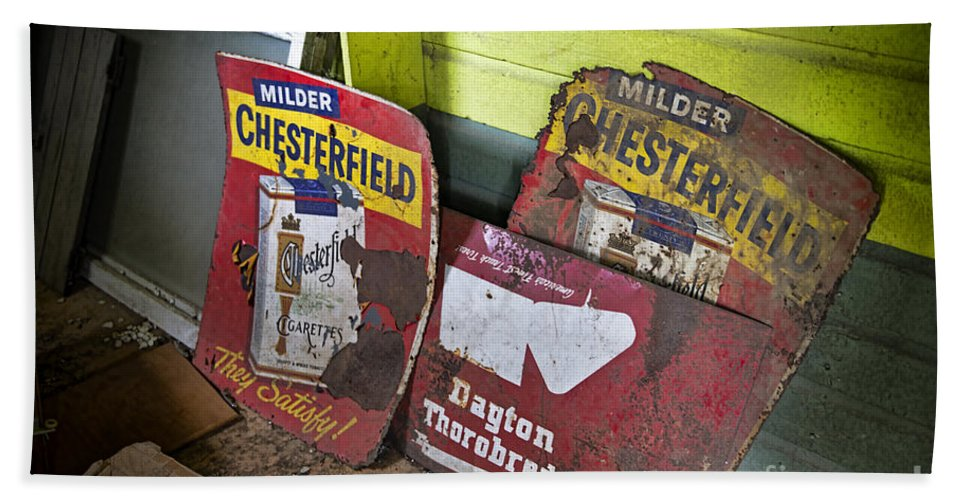 Old Signs Hand Towel featuring the photograph Chesterfield by David Arment