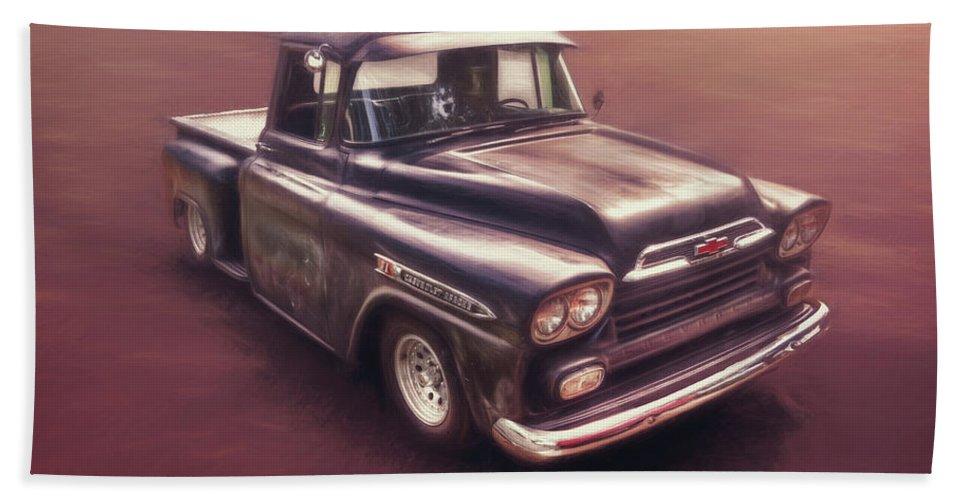 Classic Car Bath Towel featuring the photograph Chevrolet Apache Pickup by Scott Norris