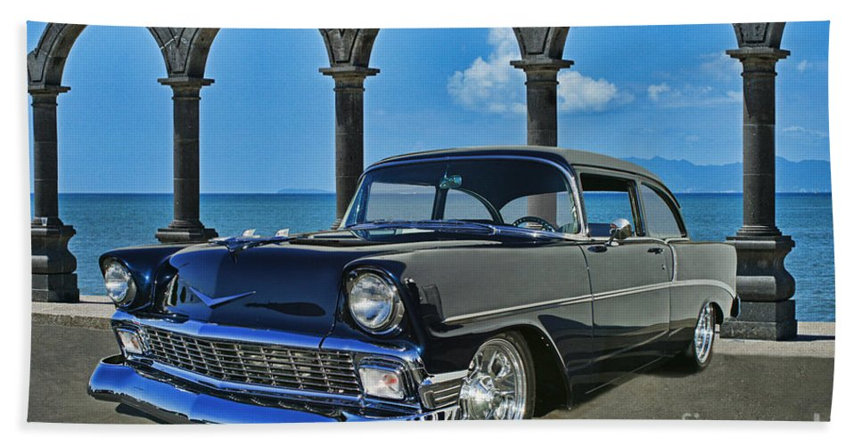 Cars Bath Sheet featuring the photograph Chevy Belair In Mexico by Randy Harris