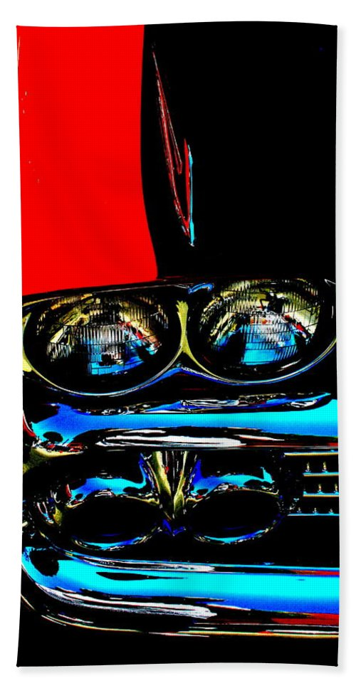 Photograph Bath Sheet featuring the photograph Chevy by Gwyn Newcombe