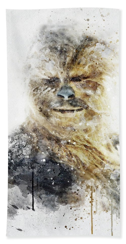 Chewbacca Bath Towel featuring the digital art Chewbacca - Star Wars by Jeffrey St Romain