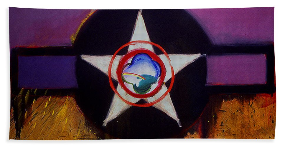 Air Force Insignia Bath Sheet featuring the painting Cheyenne Autumn by Charles Stuart