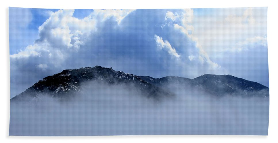 Mountain Hand Towel featuring the photograph Cheyenne Mountain by Ric Bascobert