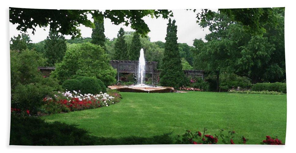 Landscape Bath Towel featuring the photograph Chicago Botanical Gardens Landscape by Steve Karol