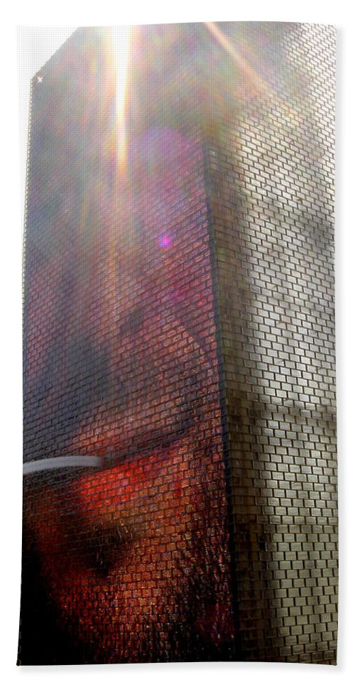 Chicago Bath Sheet featuring the photograph Chicago Crown Fountain 4 by Jean Macaluso